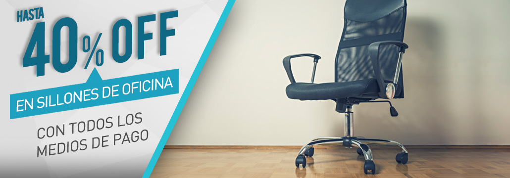 40 % sillones de oficina