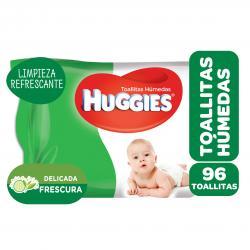 TOALLITAS HUMEDAS HUGGIES LIMPIEZA HUMECTANTE X 96 UN.