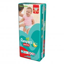 PAÑALES PAMPERS PANTS MED X 40 UN.