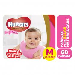 PAÑALES HUGGIES NATURAL CARE MINNIE MED X 68 UN.