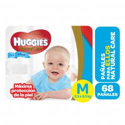 PAÑALES HUGGIES NATURAL CARE MICKEY MED X 68 UN.