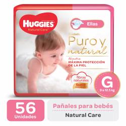 PAÑALES HUGGIES NATURAL CARE MINNIE GDE X 56 UN.