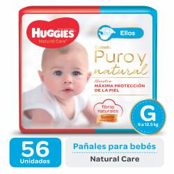 PAÑALES HUGGIES NATURAL CARE MICKEY GDE X 56 UN.
