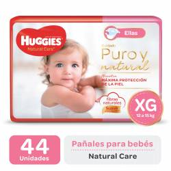 PAÑALES HUGGIES NATURAL CARE MINNIE XG X 44 UN.