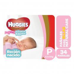 PAÑALES HUGGIES NATURAL CARE ELLAS PEQ X 34 UN.