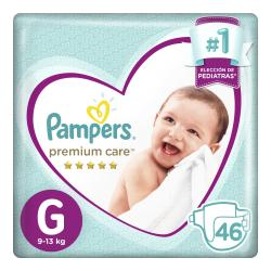 PAÑALES PAMPERS PREMIUM CARE GDE X 46 UN.