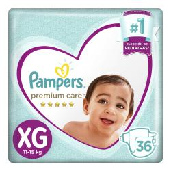PAÑALES PAMPERS PREMIUM CARE XG X 36 UN.