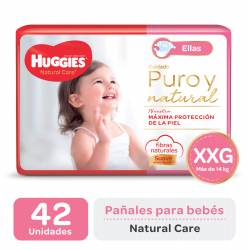 PAÑALES HUGGIES NATURAL CARE MINNIE XXG X 42 UN.